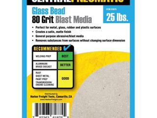 25 lbs Glass Bead 80 Grit Abrasive Media Sandblaster Blasting Free Shipping