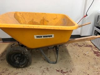 True Temper RP810 8 Cubic Foot Poly Wheelbarrow With Dual Wheels
