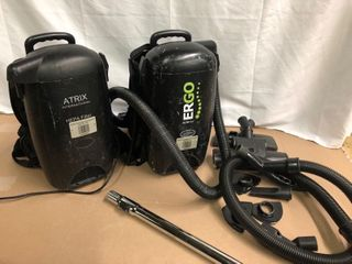 Hepa Filter Back Pack Vacuums  2  with Attachments