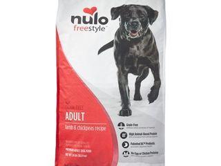 Nulo Freestyle Grain Free Adult lamb   Chickpeas Dry Dog Food  24 lb