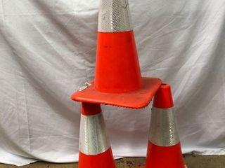 Orange Parking Cones   3 Pack