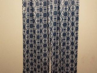 lot of 6 long window curtain s and curtain rod s