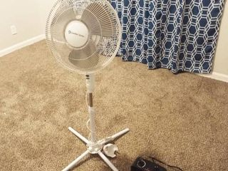 lot with fan and small space heater