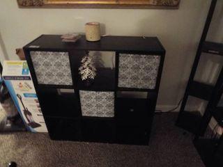 Wooden cubical organizer and wax melt  35 1 2  W x 12  D x 35 1 2  T