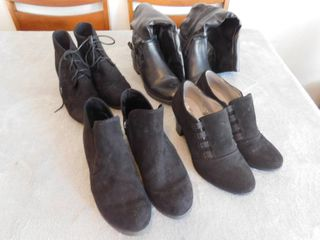 lot of women s heels  and boot s  size s 7 and 7 5