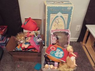 lot of various girl toy s