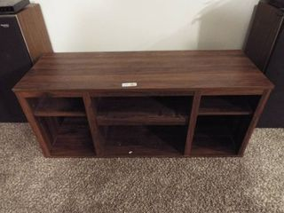 Wood tv stand  45 1 2  W x 16  D x 19  T