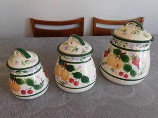 3 Piece Fruit design canister set