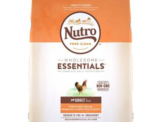 Nutro Wholesome Essentials Farm Raised Chicken  Brown Rice   Sweet Potato Recipe Adult Dry Dog Food   15lbs