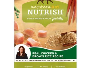 Rachael Ray Nutrish Real Chicken   Brown Rice Recipe Adult Premium Dry Cat Food   6lbs
