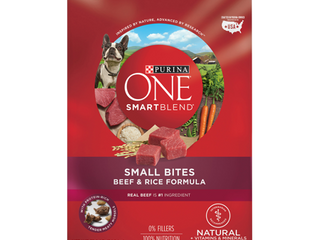 Purina ONE Natural Dry Dog Food  SmartBlend Small Bites Beef   Rice Formula  31 1 lb  Bag