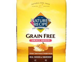 Nature s Recipe Grain Free Chicken  Sweet Potato   Pumpkin Recipe Small Breed Adult Dry Dog Food   12lbs