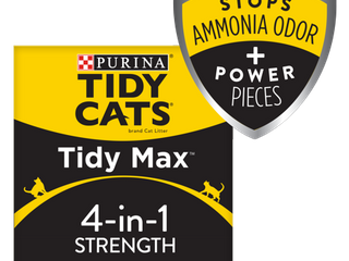 Purina Tidy Cats Clumping Cat litter  Tidy Max 4 in 1 Strength Multi Cat litter   38 lb  Box