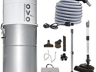 Ovo Vacuum Cleaner   Kit powerful central vacuum system   heavy duty central vac with hybrid filtration   35l or 9 25gal   700 airwatts power unit