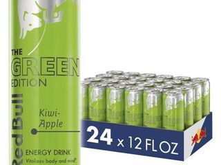 24 Cans  Red Bull Energy Drink  Kiwi Apple  Green Edition  12 fl oz