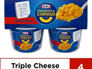 6 Boxes of 4 Packs Kraft Easy Mac Triple Cheese Macaroni and Cheese  4 ct   8 2 oz Package
