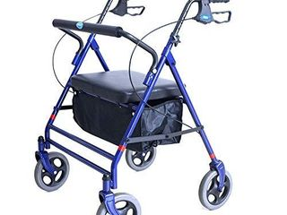 Invacare Bariatric Rollator  with Flip up Padded Seat  500 lb  Weight Capacity  66550