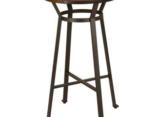 Rustic Steel Bar Table With Wood Top Tan   Glitzhome