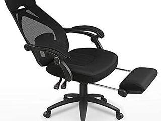 ABGY001 Mesh Fabric with Foot Rest Office Chair Bl