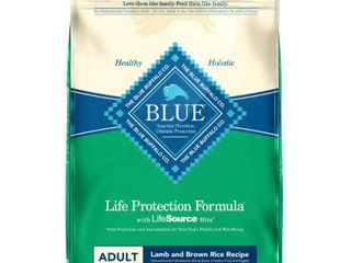 Blue Buffalo life Protection lamb   Brown Rice Recipe Adult Dry Dog Food   30lbs