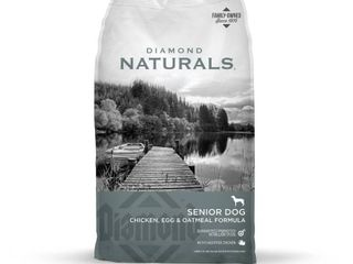 Diamond Naturals Dry Food for Senior Dogs 8  Chicken and Rice Formula  18 Pound Bag