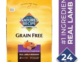 Nature s Recipe Grain Free Easy to Digest lamb  Sweet Potato    Pumpkin Recipe Dry Dog Food  24 Pound Bag