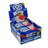 Kellogg s Whole Grain Frosted Pop Tart  Strawberry  17 60 Ounce  Pack of 120