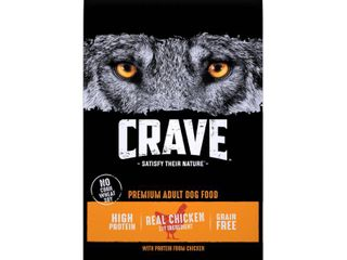 Crave Grain Free High Protein With Protein From Chicken Adult Premium Dry Dog Food   22lbs Retail  40 32