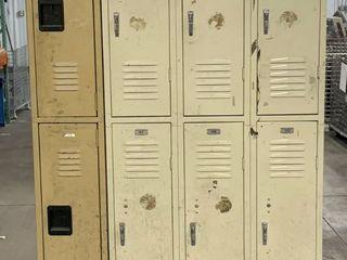 8 lockers
