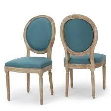 Dark Teal   Natural Phinnaeus French Country Dining Chairs  Set of 2  by Christopher Knight Home Retail 432 99 SEE PHOTOS
