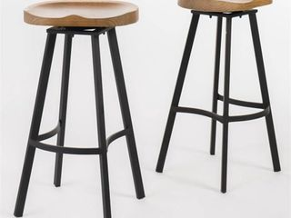 Two Albia 32in Swivel Barstools