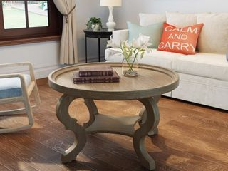 Althea Round Wood Coffee Table