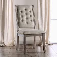 Two Upholstered Nailhead Dining Chairs
