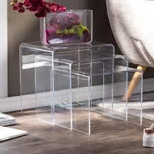 Set of 3 Glory Acrylic Nesting End Tables