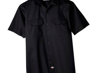 Dickies Men s Big   Tall Short Sleeve Work Shirt   Black 4Xl
