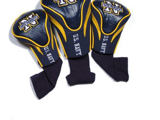 Team Golf Military Navy Contour Golf Club Headcovers  3 Count  Numbered 1  3  X  Fits Oversized Drivers  Utility  Rescue   Fairway Clubs  Velour lined for Extra Club Protection