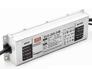Mean Well 24V Power Supply  ElG 200 24B lED Driver   200W 24V 8 4A  Dimmable   IP67