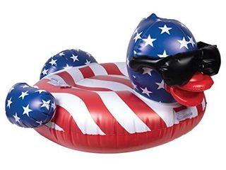 Derby Duck Stars   Stripes  large  Holds Up to 250 Pounds Pool Float