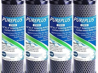 1 Micron 2 5  x 10  Whole House CTO Carbon Water Filter Cartridge Replacement for Countertop Water Filter System  Dupont WFPFC8002  WFPFC9001  FXWTC  SCWH 5  WHEF WHWC  WHCF WHWC  AMZN SCWH 5  3Pack