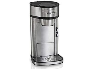 Hamilton Beach Scoop Single Serve Coffee Maker  Fast Brewing  Stainless Steel  49981A