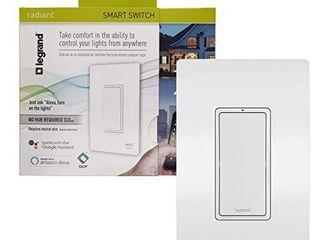 legrand   Pass   Seymour Radiant WWRl10WHCCV2 Enabled  White Smart Wi Fi Switch