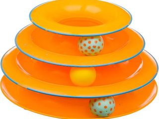 Petstages Tower of Tracks Cat Toy With 2 Balls One is Missing