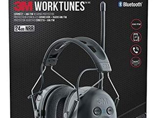 3M   90542 3DC WorkTunes Connect   AM FM Hearing Protector with Bluetooth Technology  Ear protection for Mowing  Snowblowing  Construction  Work Shops Black