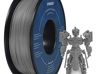 lONGER PlA 3D Printer Filament 1 75mm  Dimensional Accuracy   0 02 mm  No Tangle  Eco Friendly  Widely Compatibility  Grey  1KG