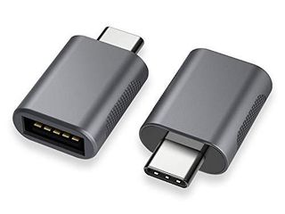 USB C to USB Adapter 2 Pack USB C to USB 3 0 Adapter USB Type C to USB Thunderbolt 3 to USB Female Adapter OTG for MacBook Pro2019 MacBook Air 2020 iPad Pro 2020 More Type C Devices Space Gray