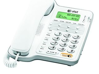 AT T Cl2909 Corded Phone with Speakerphone and Caller ID Call Waiting  White