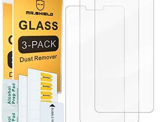 3 PACK  Mr Shield For lG V40 ThinQ  Upgrade Maximum Cover Screen Version   Tempered Glass  Screen Protector  Japan Glass With 9H Hardness  with lifetime Replacement