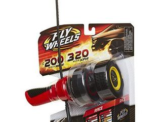 Fly Wheels launcher   2 Race Wheels   Rip it up to 200 Scale MPH  Fast Speed  Amazing Stunts   Jumps up to 30 feet  All Terrain Action  Dirt  Mud  Water  Snow  One of The Hottest Wheels Around