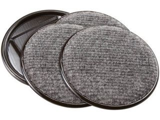 Waxman 4291195N 4 inch Round Carpet Caster Cup  Gray  4 Pieces