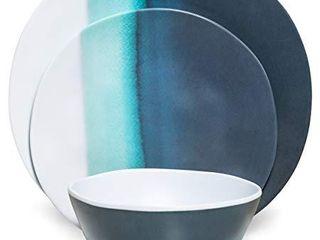 Melamine Dinnerware Set   Melamine Plates 8Pcs Outdoor Plates  Blue Ocean